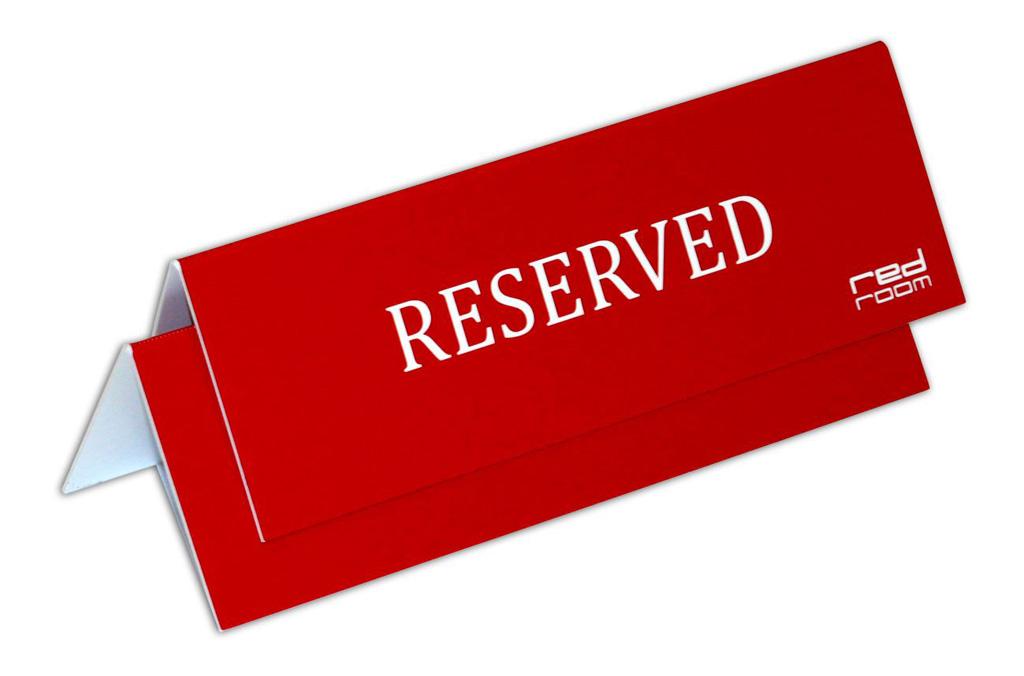 Настольные таблички для ресторана Red Room