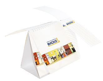 настольный перекидной календарь с блокнотом