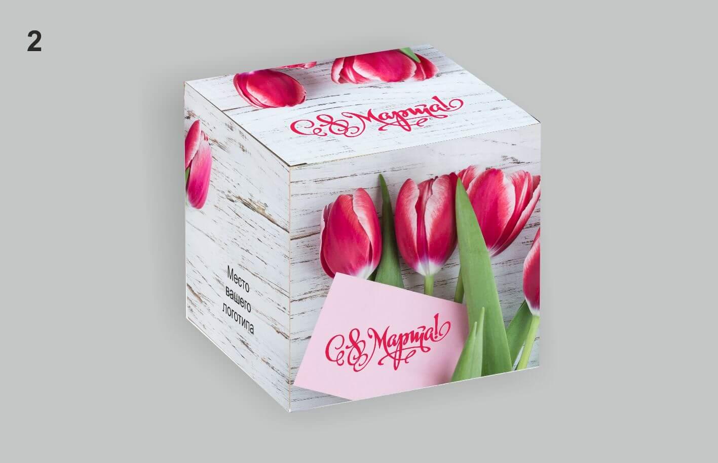 коробка под кружку на 8 марта для варианта 1