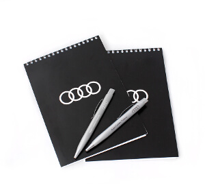 Блокноты на пружинах для мероприятий с фирменной символикой